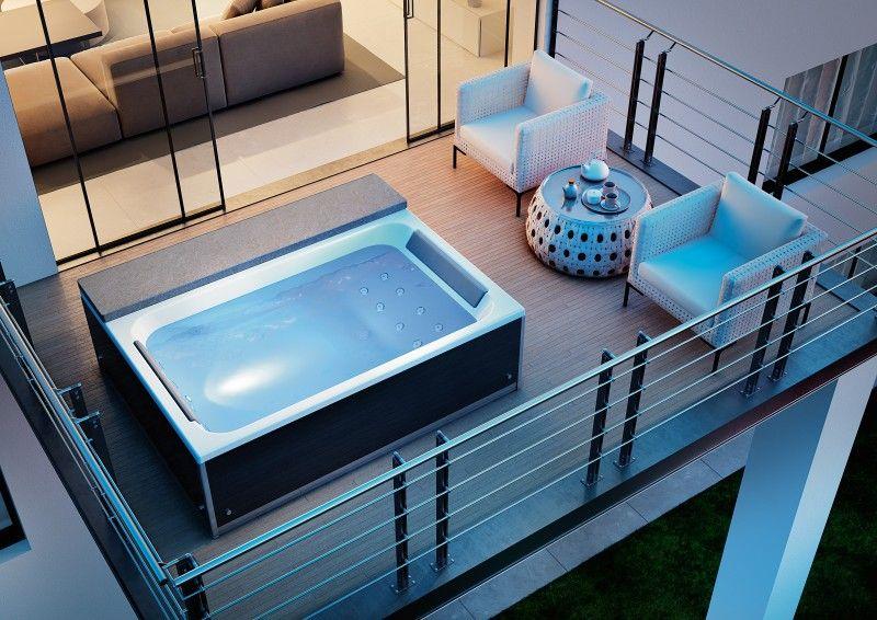 Whirlpool en massagebad met kleurentherapie magic spa van kinedo