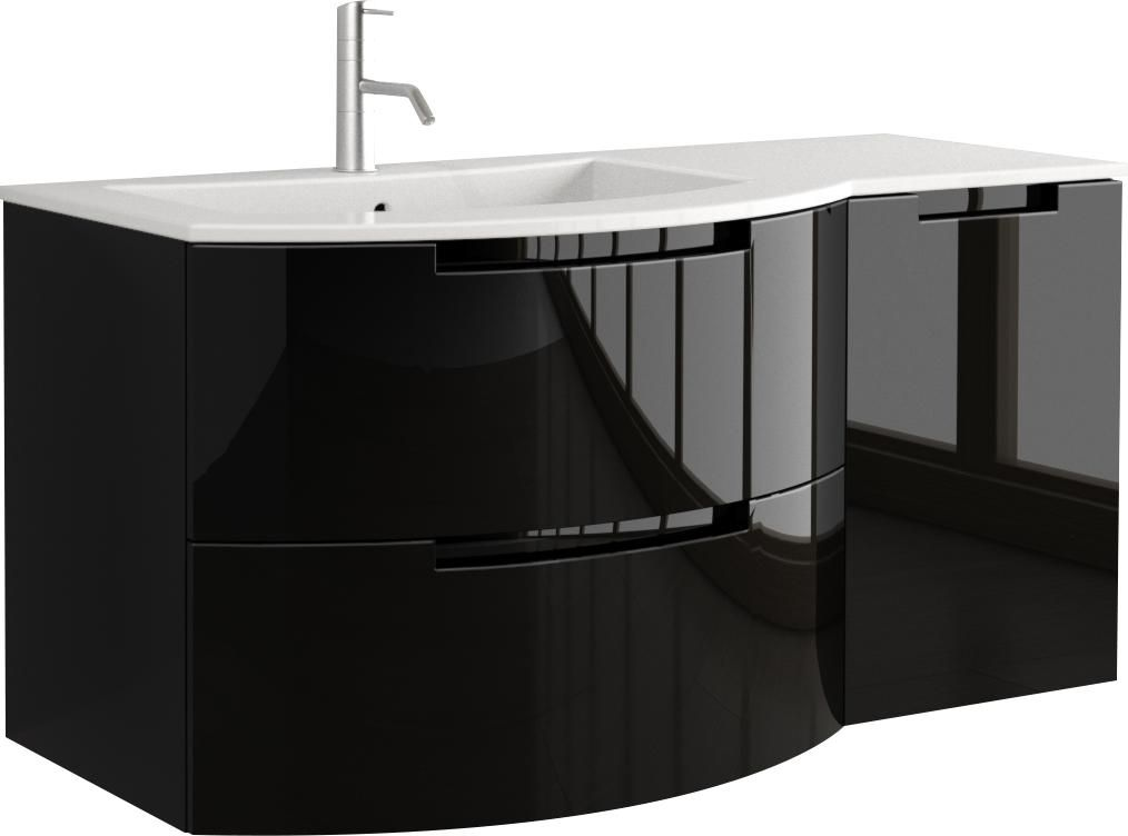 Anity 43 Inch Modern Floating Bathroom Vanity Slate Glossy Finish