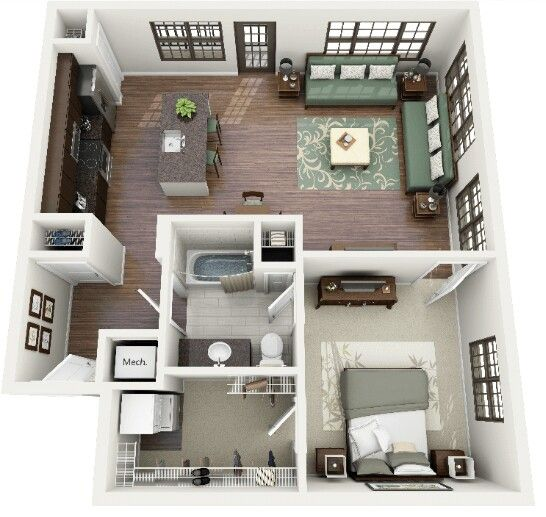 2 Bedroom Apartment Interior Design 1 Bedroom Apartment  Home Ideas  Pinterest  Bedroom Apartment