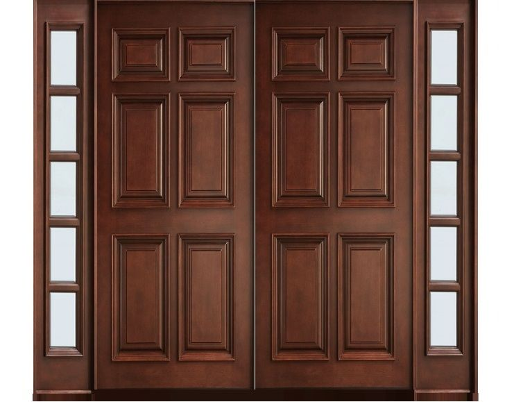 Main Double Door 6 Panel Hpd395 Main Doors Al Habib Panel Doors Interior Doors For Sale Door Design Wood Wood Doors Interior