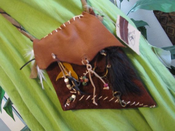 Authentic Leather Medicine Pouch  Leather Purse by NanasSunshine