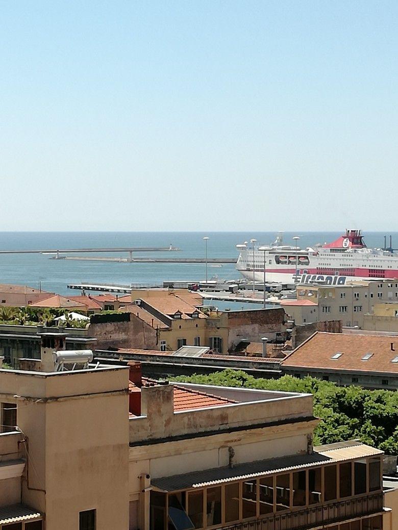 View over Cagliari port