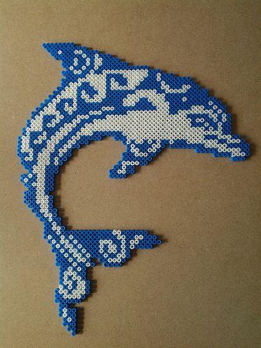 Dauphin Tribal Steckperlen Hama Beads Design Hama Beads