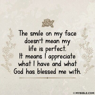 Yess, I appreciate what I have . . .