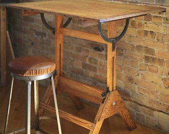 Restored Vintage Drafting Table By Mayline