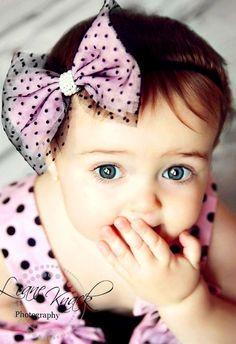Babies Girls With Blue Eyes Pesquisa Google Baby Headbands