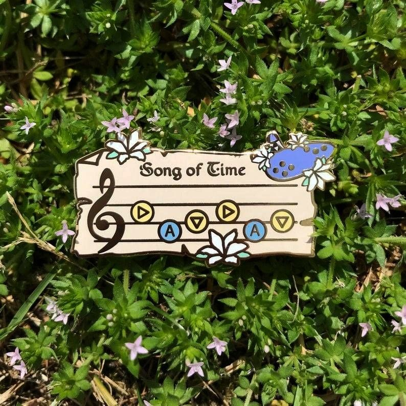 of Time Song Pins made by CosmicLavenderDust -Ocarina of Time Song Pins made by CosmicLavenderDust
