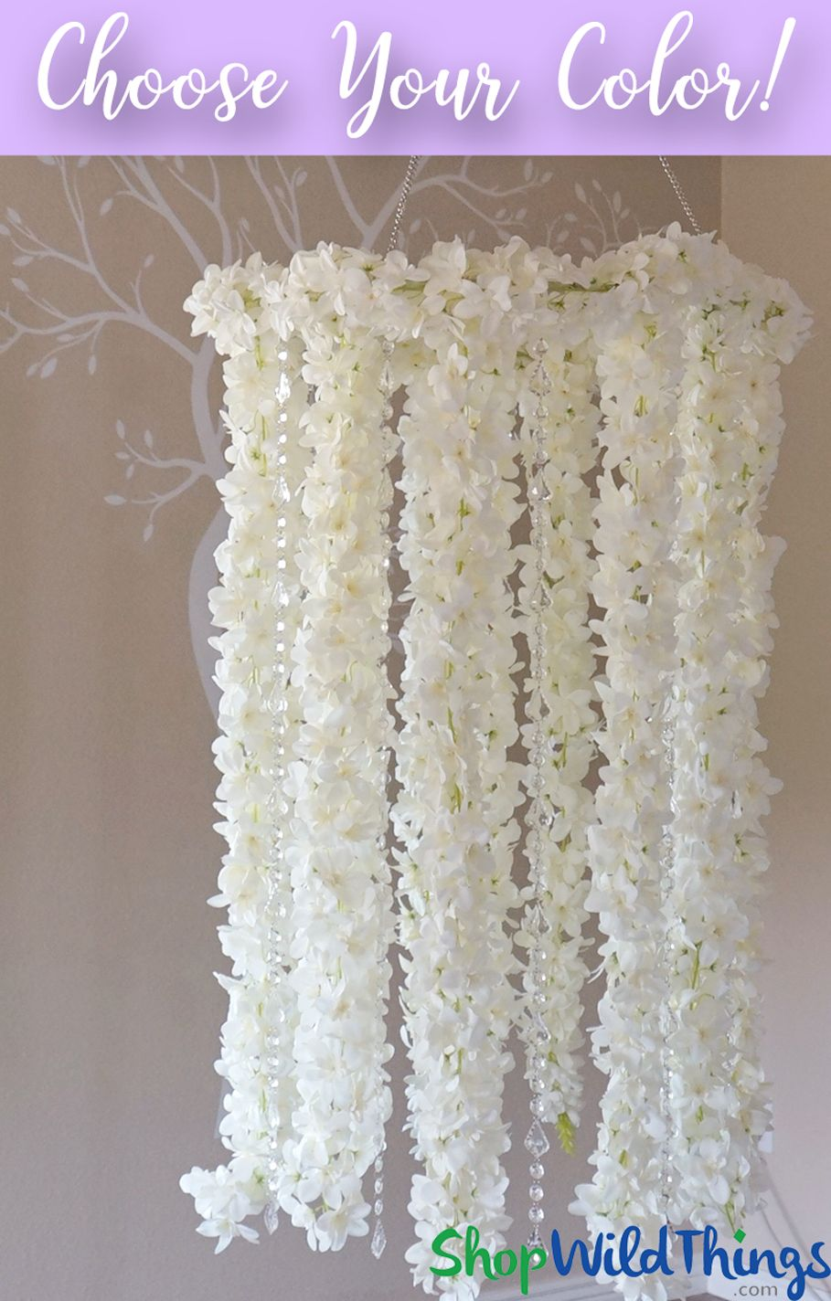 Floral chandelier with crystal strands 2 feet x 55 feet arrives floral chandelier with crystal strands 2 feet x 55 feet arrives finished arubaitofo Choice Image