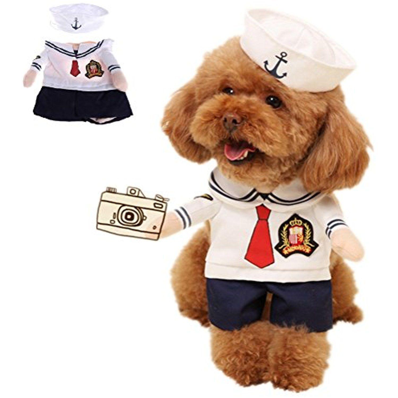Gaocold Pet Dog Coat Cat Costume Suit Puppy Clothes Sailor Outfit