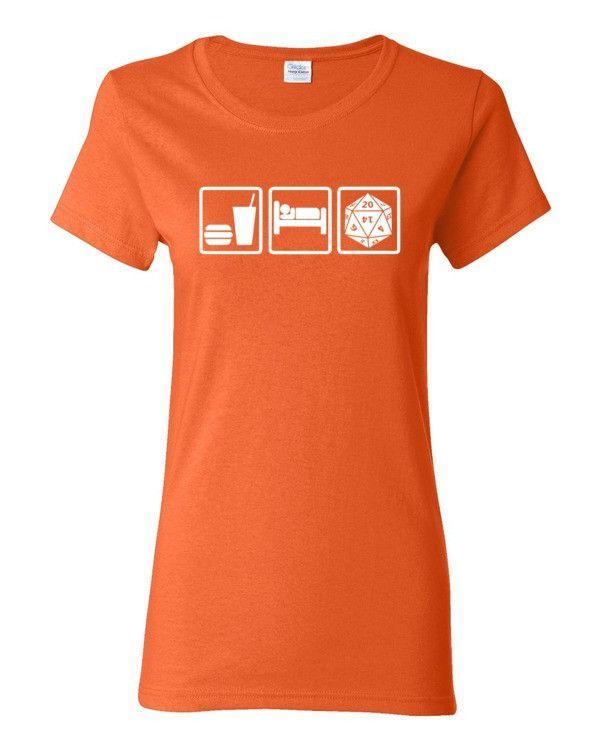 Eat Sleep Role Heavy Cotton Women's T-Shirt