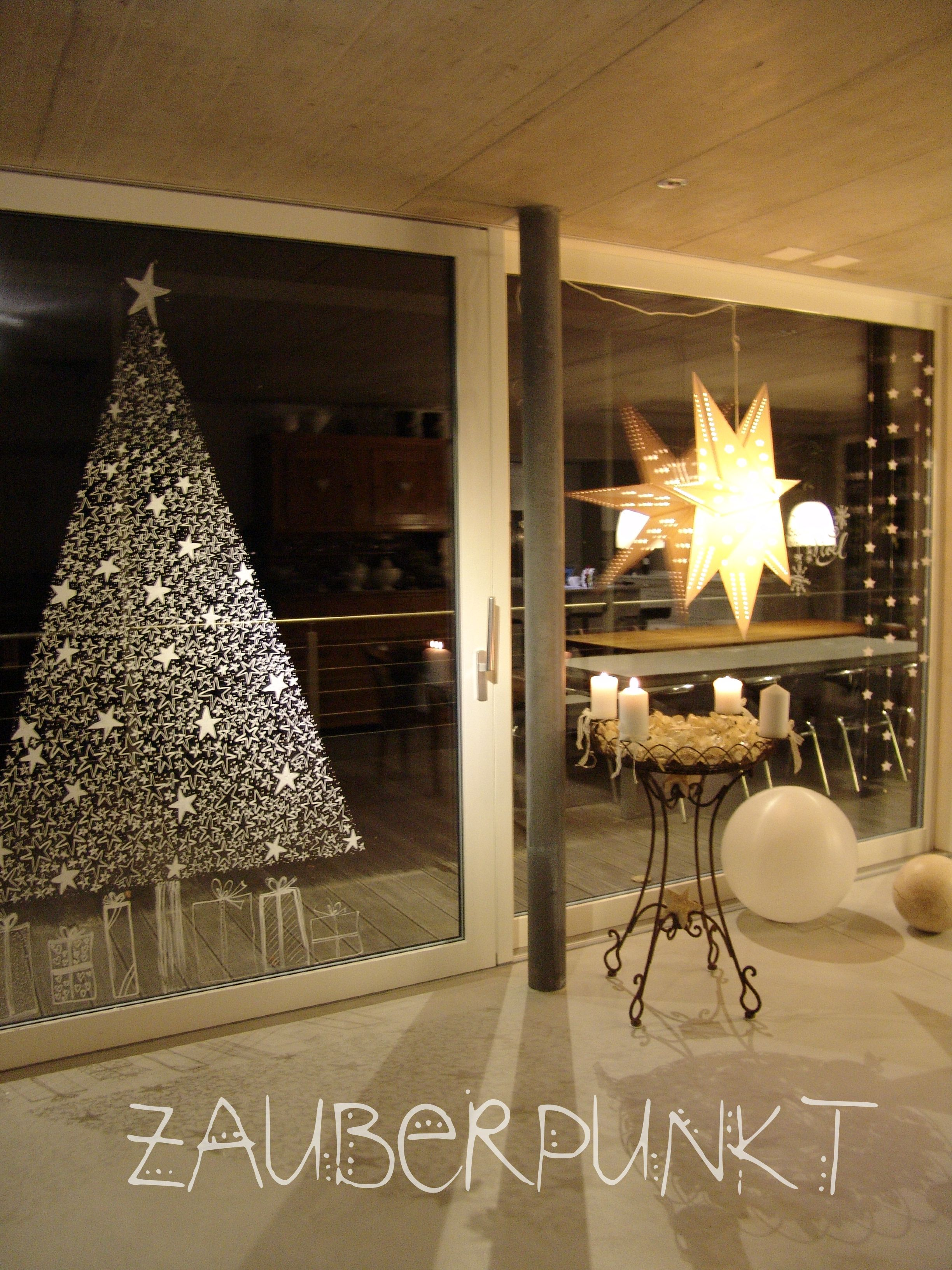 Windowpainted Christmastree Christmas Decor Pinterest Noel