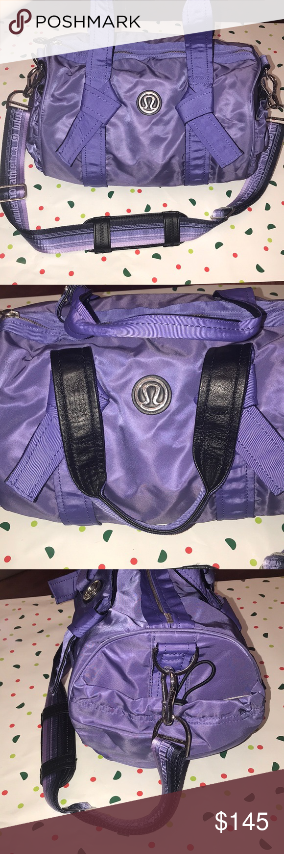 "b371e5f59cd *RARE* Lululemon DTB duffel bag Lululemon DTB duffel bag in the color ""Persian  purple"" In excellent condition! A rare lululemon find! lululemon athletica  ..."