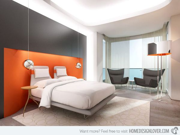 15 Orange Bedroom Designs Furniture Pinterest Orange bedrooms - Orange Bedrooms