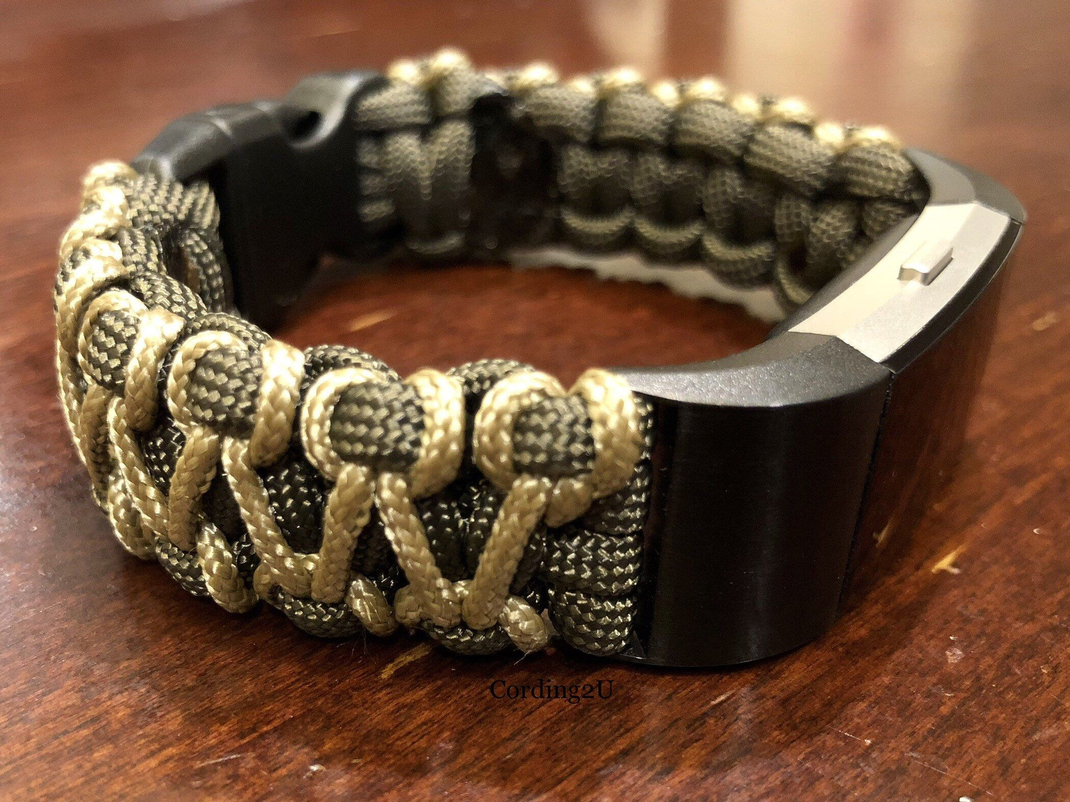 Fitbit Charge 2 3 4 Watch Band Paracord Fitbit Charge 2 3 4 Etsy Watch Bands Paracord Fitbit Accessories