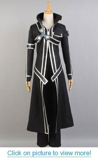 Anime Sword Art Online Kirito Kazuto Kirigaya Cosplay Black Costume Cloak