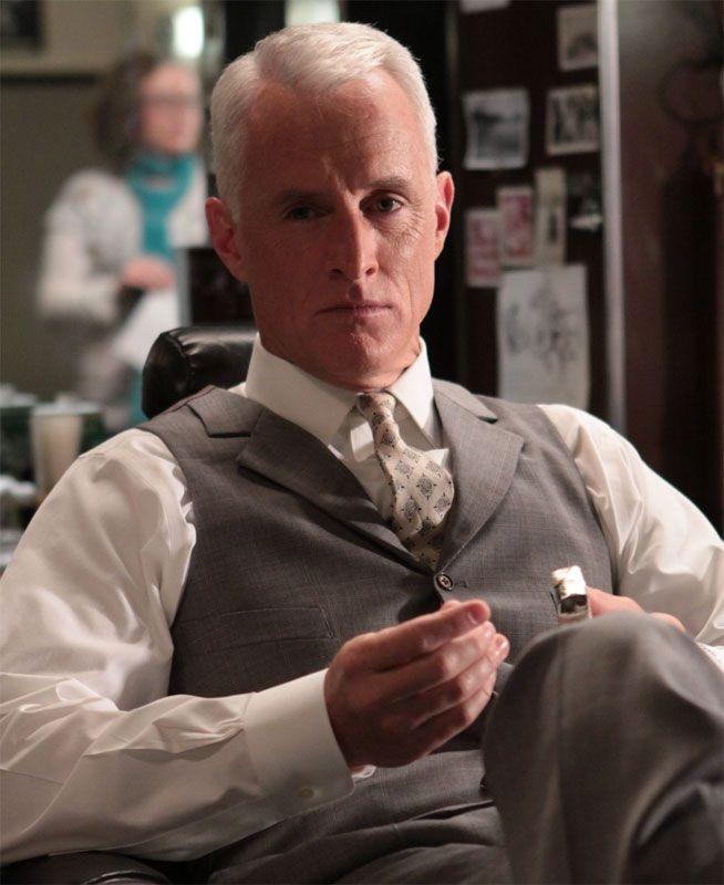 John Slattery makes grey look more than distinguished.