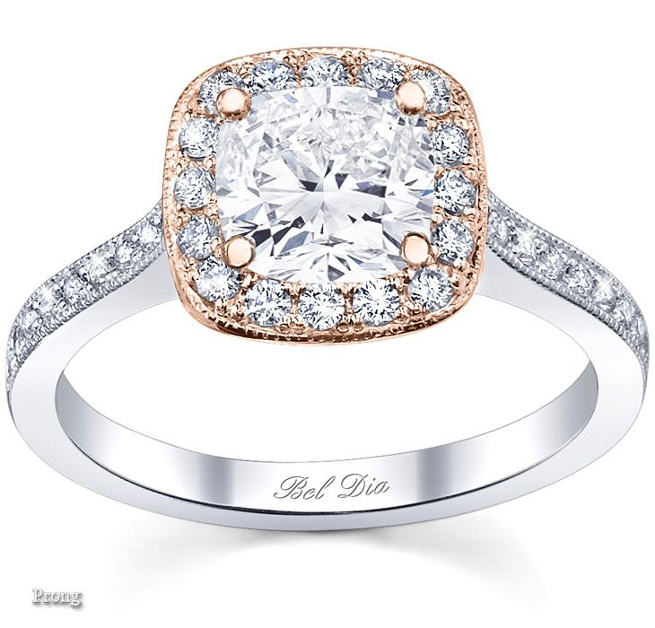 17 Best Images About Rose Gold Halo Engagement Rings On Pinterest