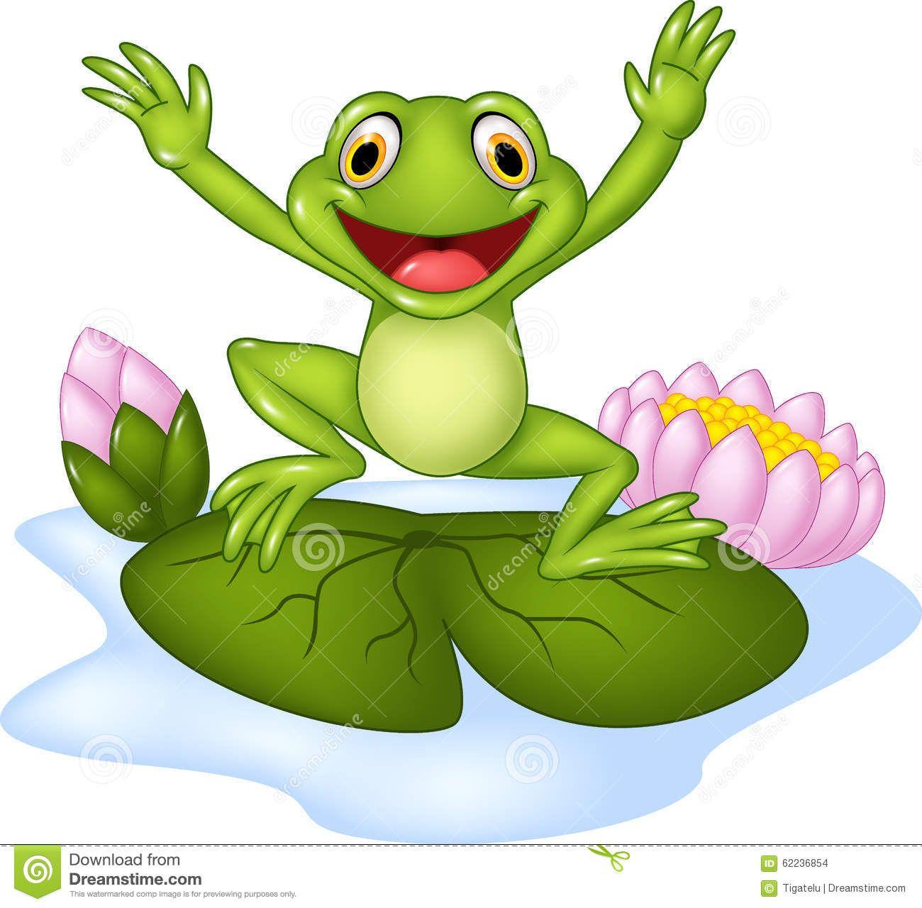 Foto über Illustration des glücklichen Frosches der