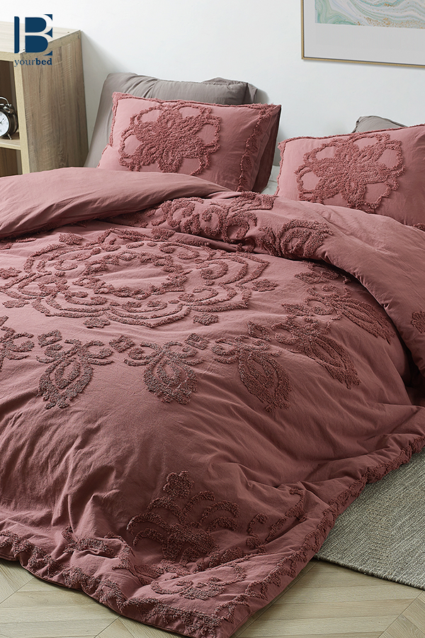 Oversized King Duvet Cover In Stylish Burgundy Color With Textured Mandala Design And Softest Cotton Material Single Duvet Cover Single Duvet Duvet Cover Sizes