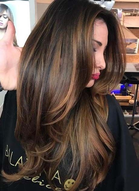 Color Styles For Long Hair: Long Brown Hair 2018-2019 With Layers