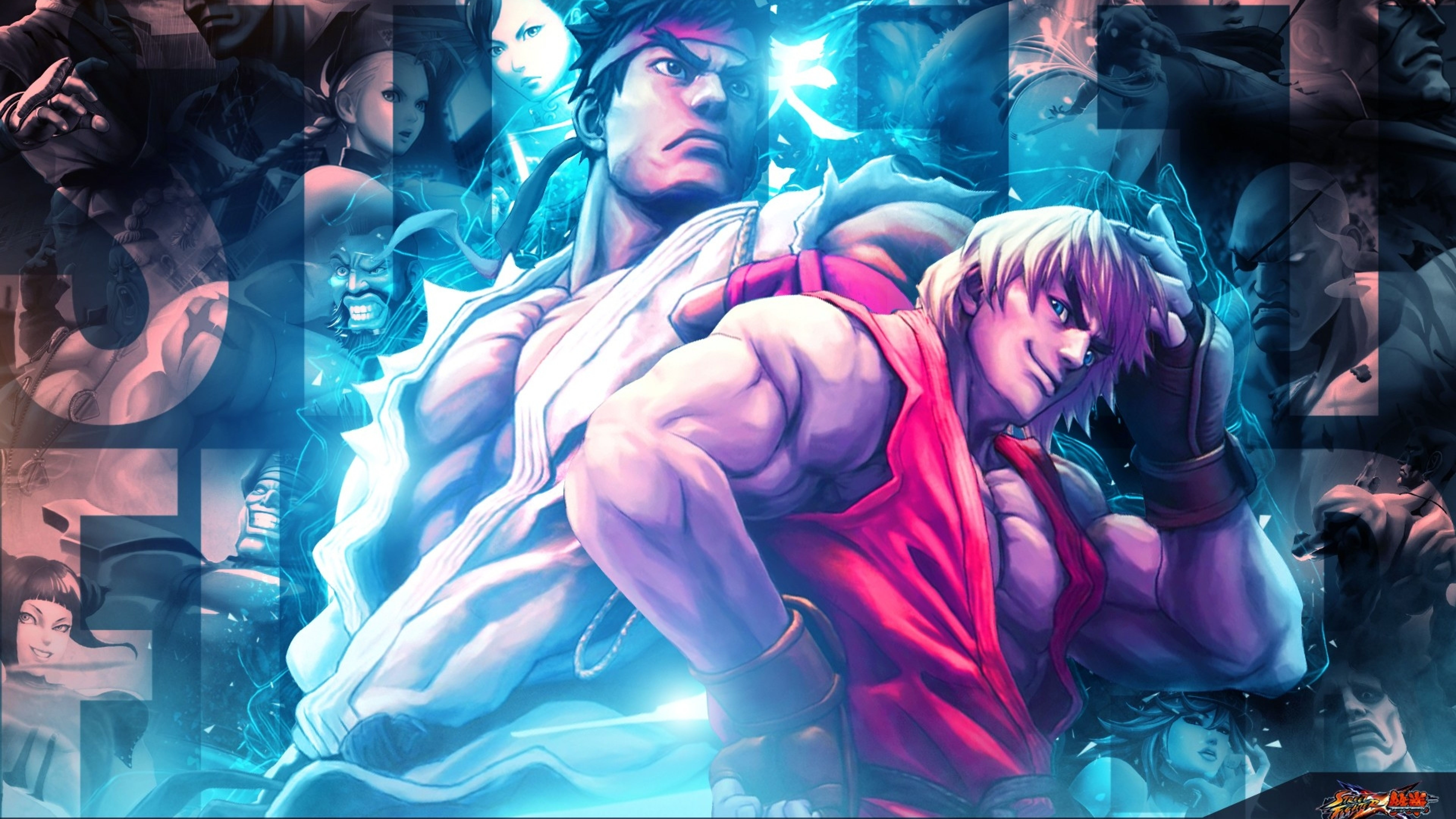 Ryu And Other Characters From Street Fighter X Tekken Poster