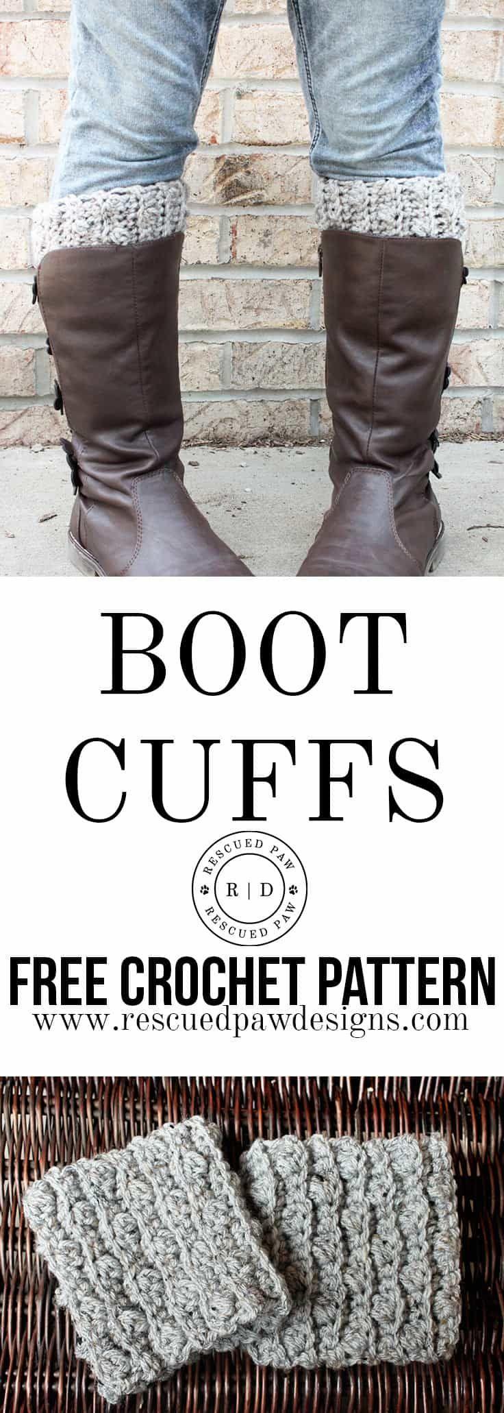 Boot Cuffs Pattern - Free Crochet Pattern | Patrones libres de ...