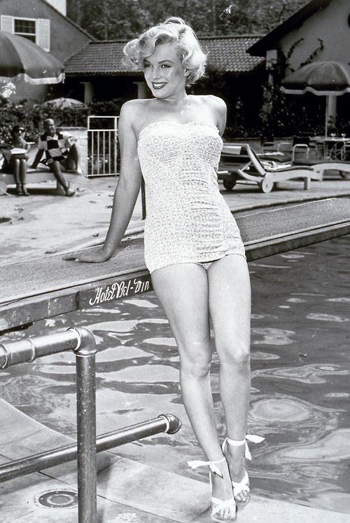 Marilyn by the pool | Marilyn: Bathing Suits | Pinterest ...