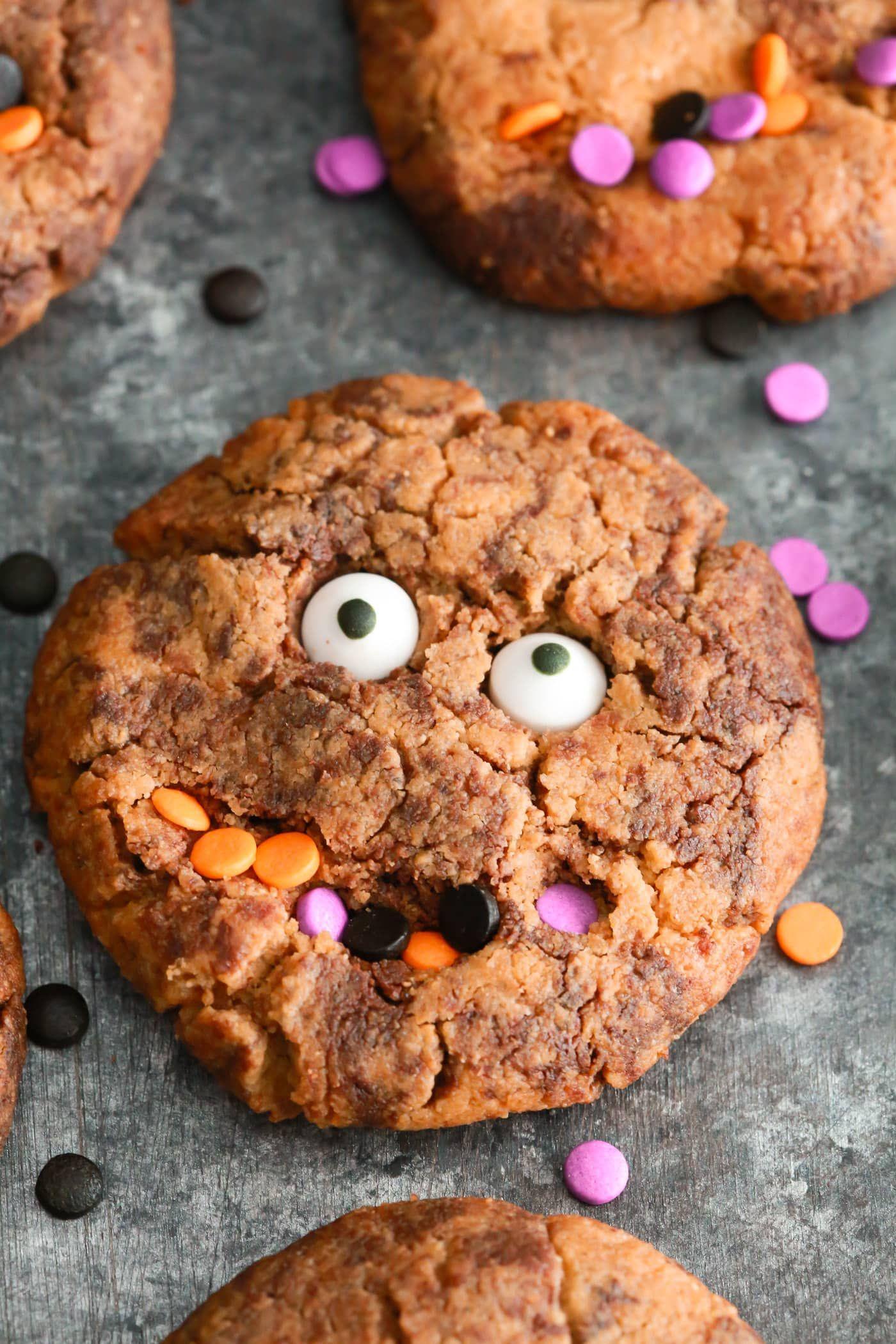 Gluten-free Halloween Monster Cookies   Recipe   Healthy ...