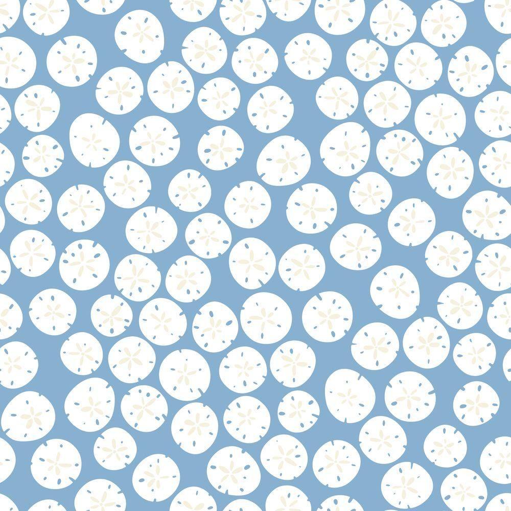 Sand Dollar Wallpaper, Blue