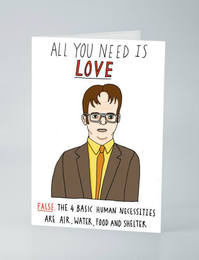 Give Your Love This The Officethemed Card On Valentine's Day Adorable Anti Valentines Day Funny Quotes