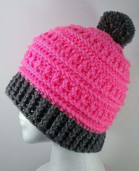 0d8ab5568f9 Pink Winter Pom Pom Ski Hat