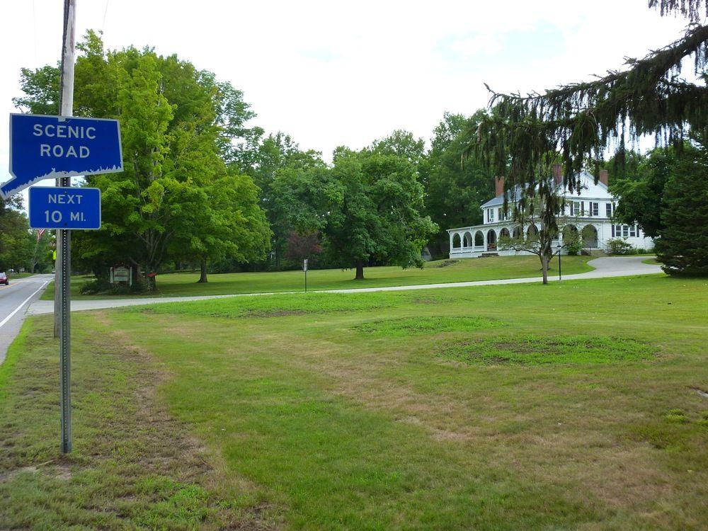 Scenic drive in Woodstock, Connectict -- the Quiet Corner of Connecticut
