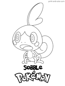 Pokemon sword and shield coloring pages (With images ...