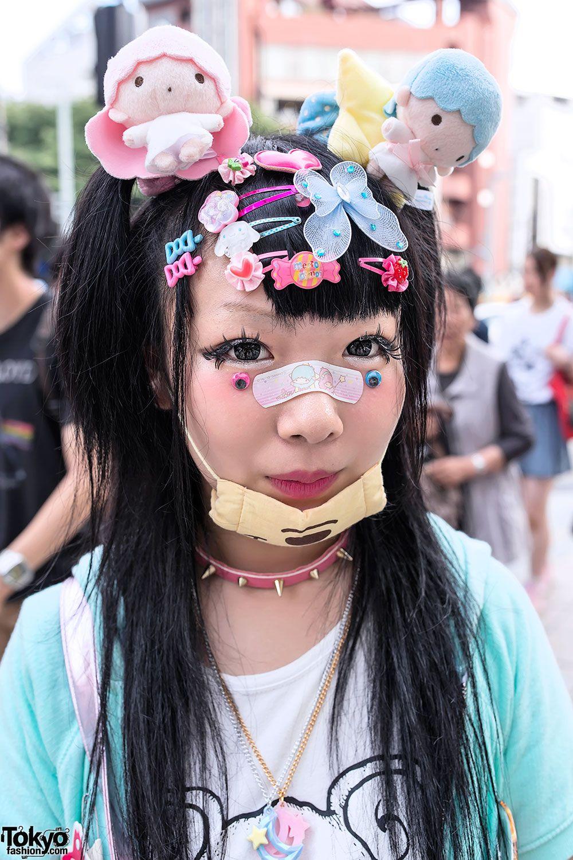 kawaii decora hairstyle   decora/cute/colourful/rave/etc