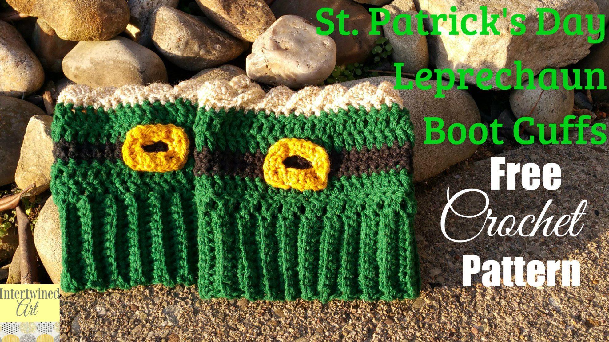 Free Amigurumi Leprechaun Pattern : St. patrick's day leprechaun crochet boot cuffs crochet boot cuffs