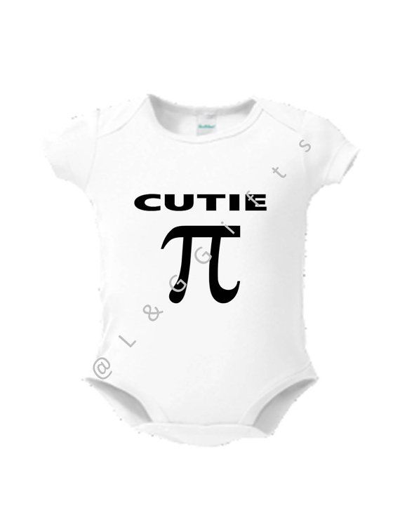 Cutie Pi Symbol Bodysuit Pi Baby Shower Clothes Gift For Baby