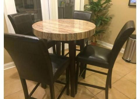 Used round bar height table and chairs set #ChairsForKids Chairs