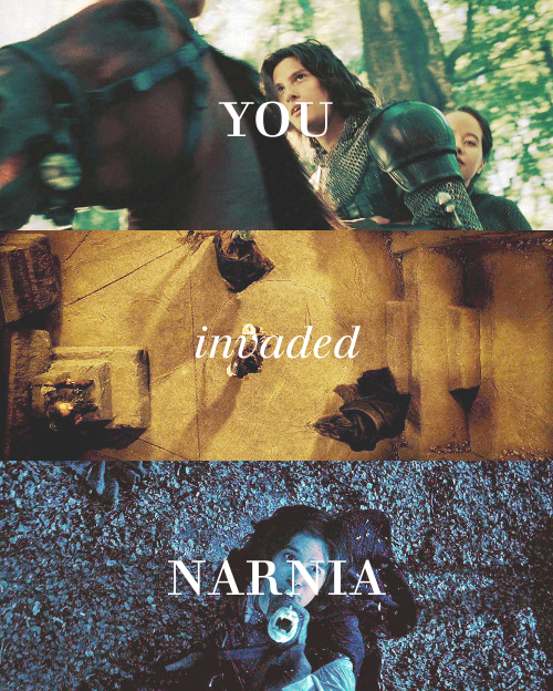 You invaded Narnia. You have no more right to lead it than Miraz does! You, him, your father; Narnia would be better off without the lot of you.