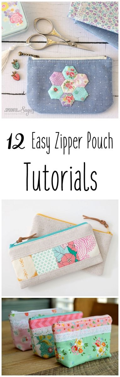 12 Easy Zipper Pouch Sewing Tutorials + Free Pattern | Bags and more ...