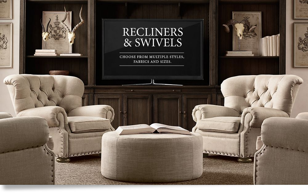 Fabric Recliners and Swivels four chairs and table Pinterest