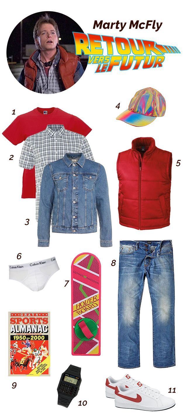 marty mcfly look outfit looks de films pinterest. Black Bedroom Furniture Sets. Home Design Ideas