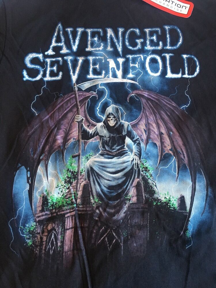 Avenged Sevenfold Concert Tour T Shirt Medium Heavy Metal Band