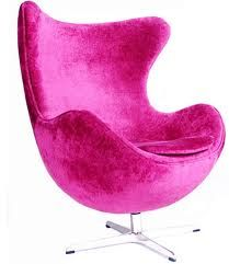 Velvet Fuschia Chair For The Barbie In Me Screaming To Get Out