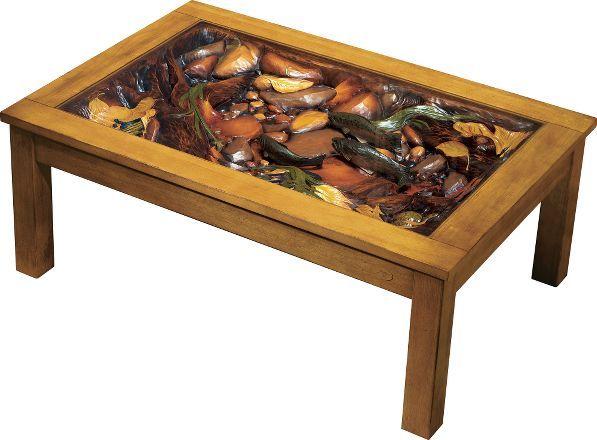 Cabelas Big Sky Carvers Trout Stream Coffee Table Where The - Trout stream coffee table