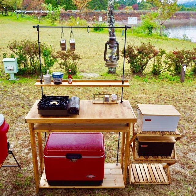 サイズオーダー可能 折りたたみキッチンテーブル アウトドアテーブル オリジナル作品 キッチンテーブル アウトドア テーブル キャンプ用キッチン