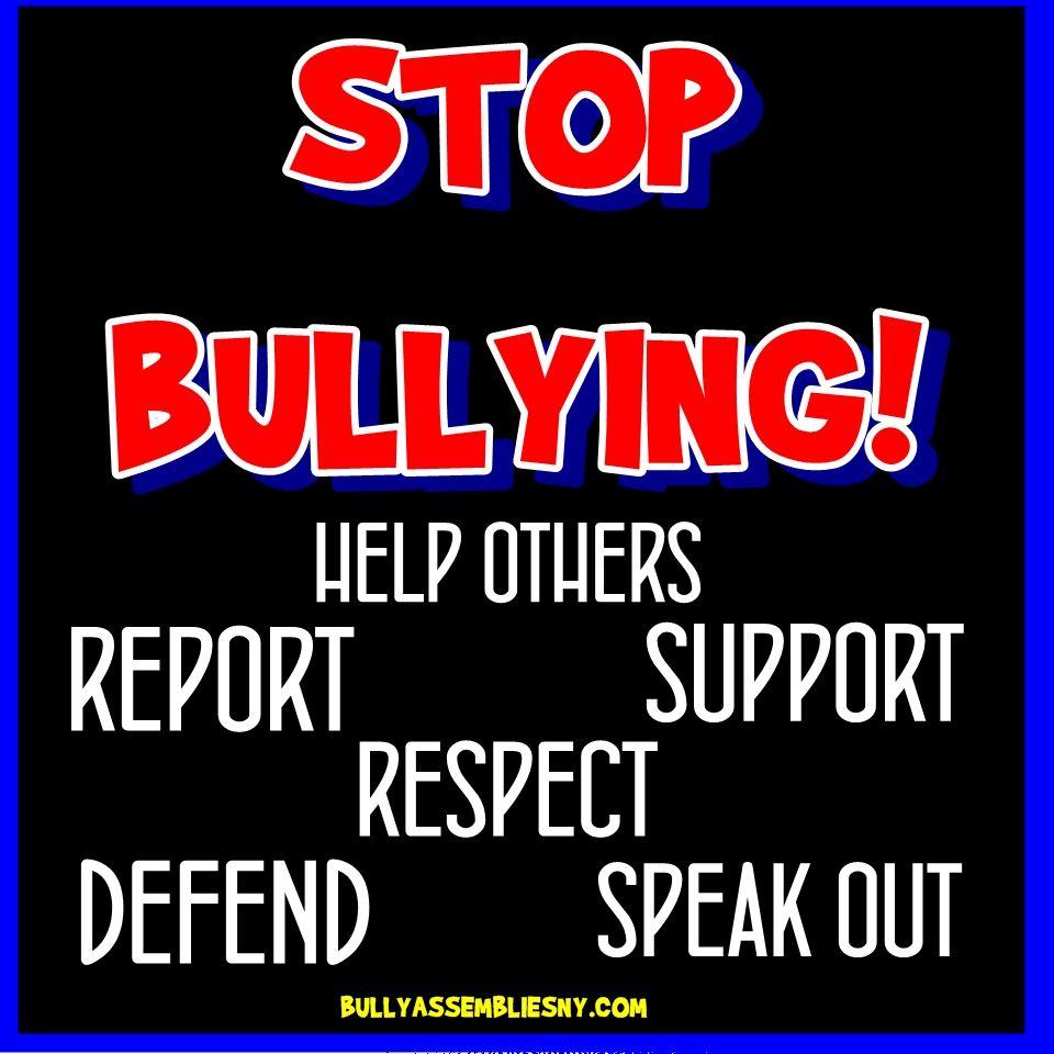STOP BULLYING   Stop Bullying Now   Pinterest