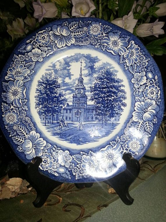 Check out this item in my Etsy shop https://www.etsy.com/listing/228802907/staffordshire-liberty-blue-dinner-plate