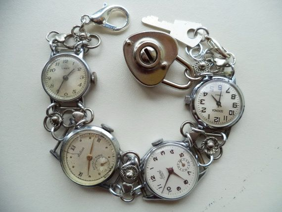 HandmadeRecycled Vintage Watches by Recycloanalyst on Etsy