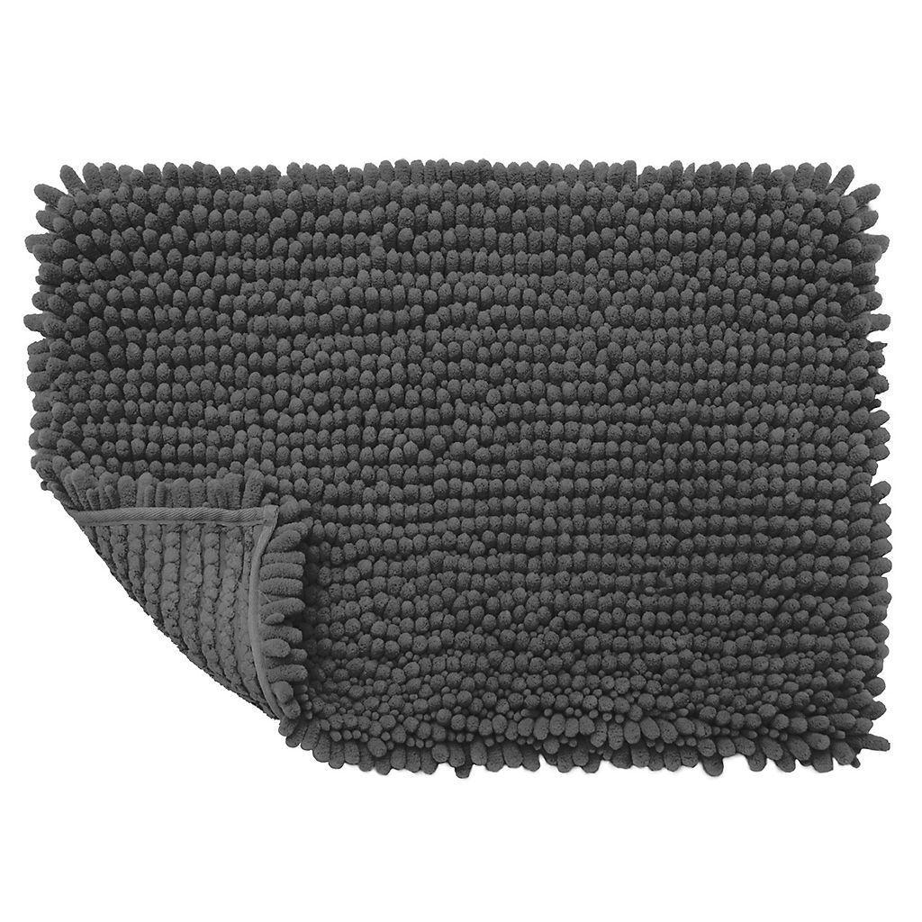 sunham lagoon chenille solid bath rug - 17'' x 24'' | master suite