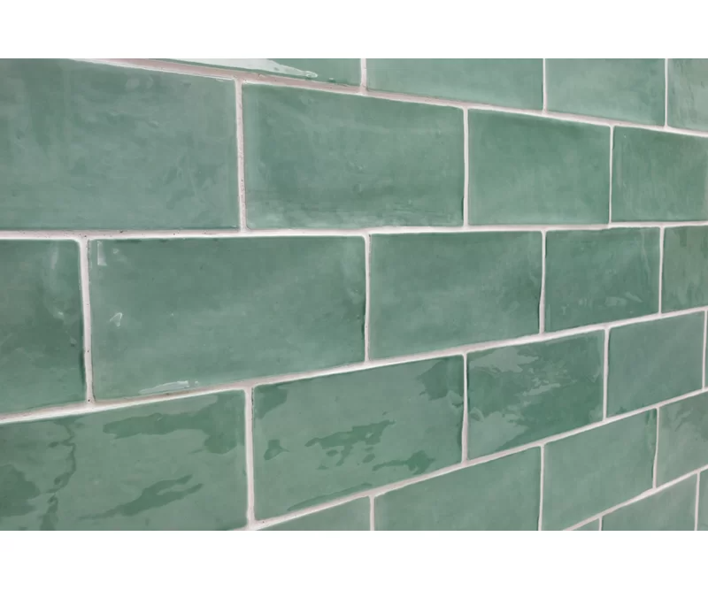 Catalina 3 X 6 Ceramic Subway Tile In 2020 Green Subway Tile Splashback Tiles Ceramic Subway Tile